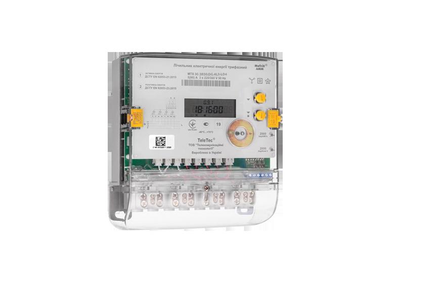 Трифазний лічильник електроенергії трансформаторного включення